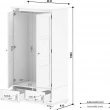 Home Affaire Kleiderschrank »Isac« Breite 103 Cm